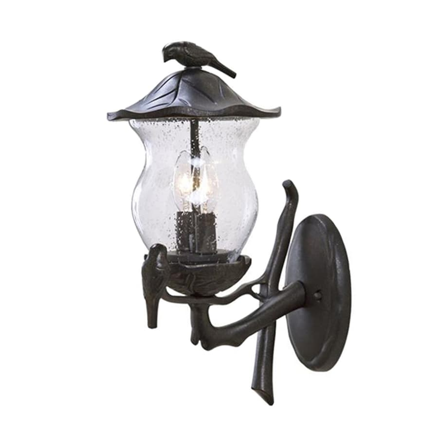 Acclaim Lighting Avian 16.5-in H Black Gold Outdoor Wall Light