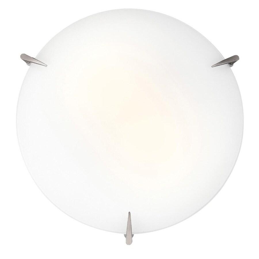 Access Lighting Zenon 12-in W Brushed Steel Ceiling Flush Mount Light