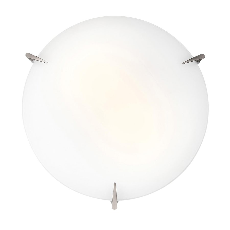 Access Lighting Zenon 16-in W Brushed Steel Ceiling Flush Mount Light