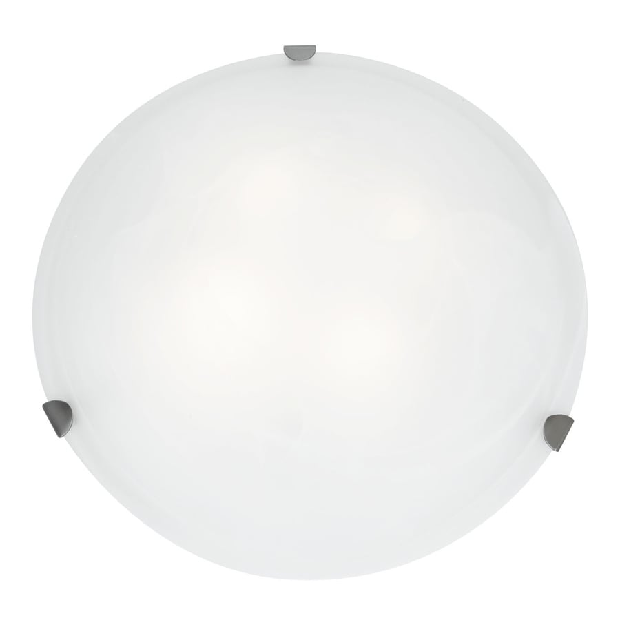 Access Lighting Mona 20-in W Brushed Steel Ceiling Flush Mount Light