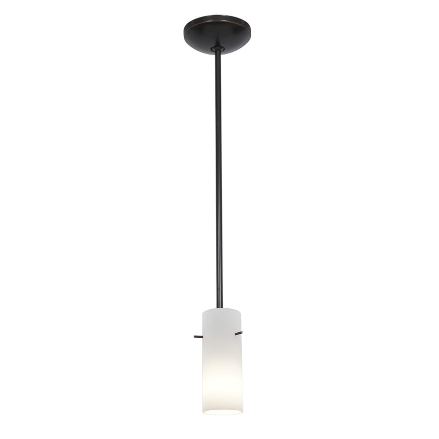 Access Lighting Julia 4-in Oil-Rubbed Bronze Mini Cylinder Pendant