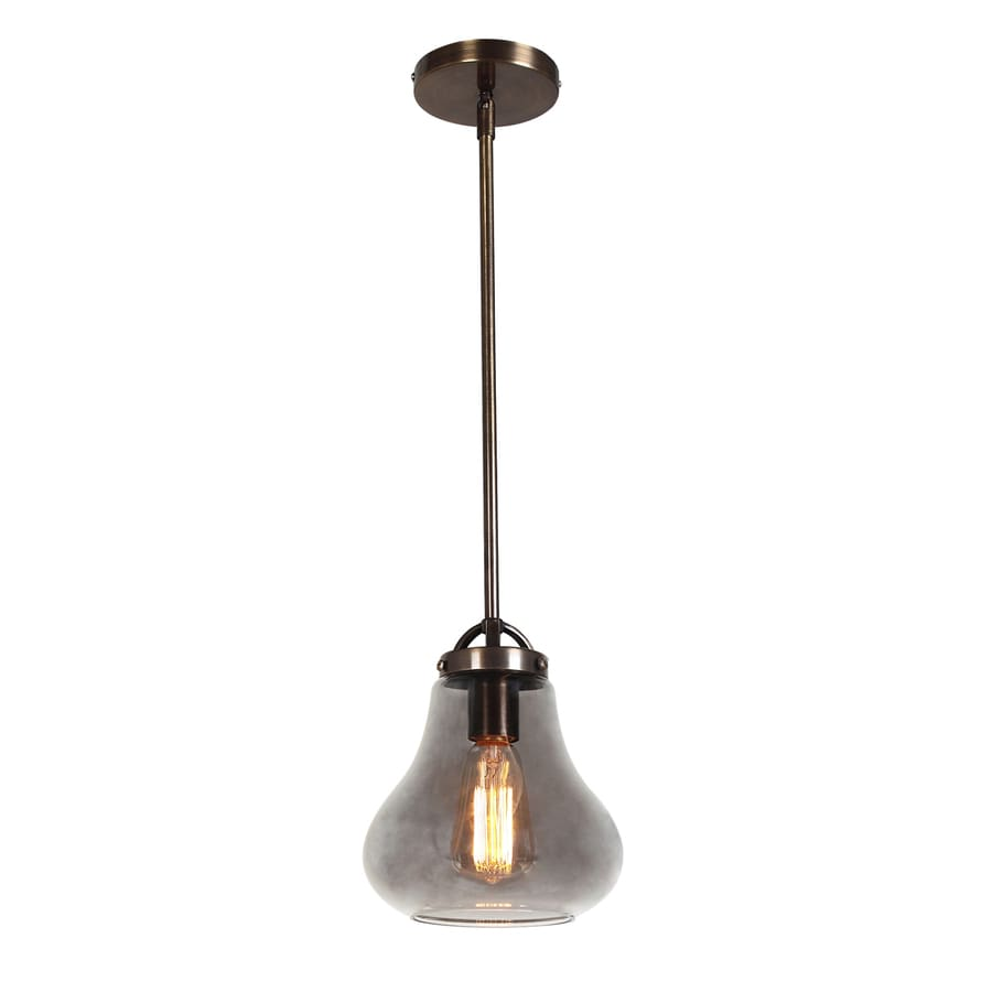 Access Lighting Flux 7.5-in Distressed Bronze Vintage Mini Tinted Glass Teardrop Pendant