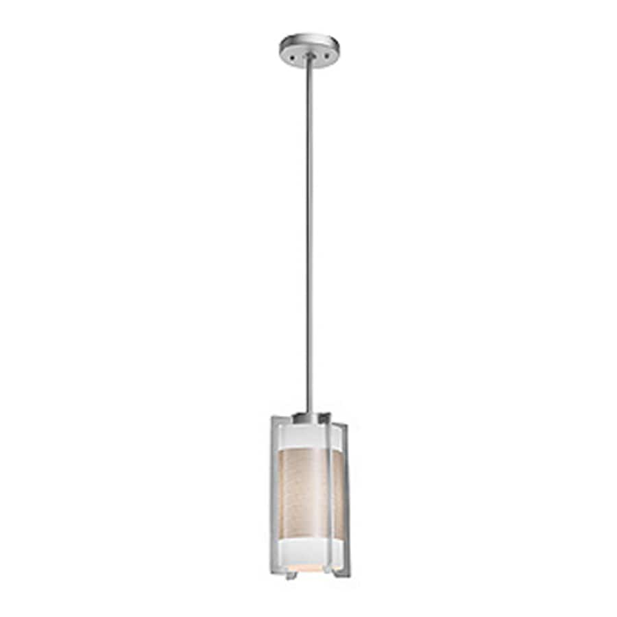 Access Lighting Iron 6.1-in Brushed Steel Mini Cylinder Pendant