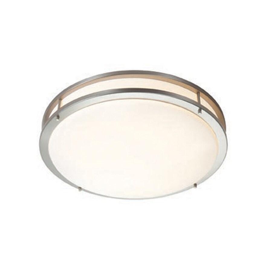 Access Lighting Saloris 17-in W Brushed Steel Ceiling Flush Mount Light