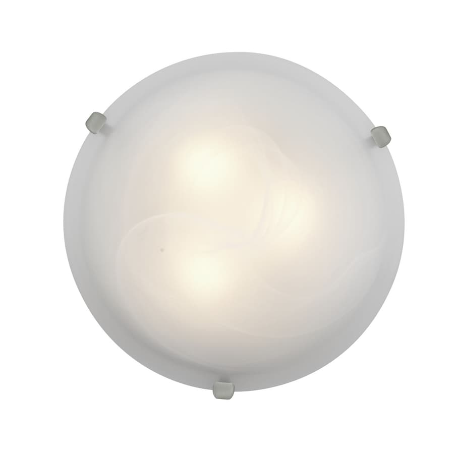 Access Lighting Mona 12-in W Brushed Steel Ceiling Flush Mount Light