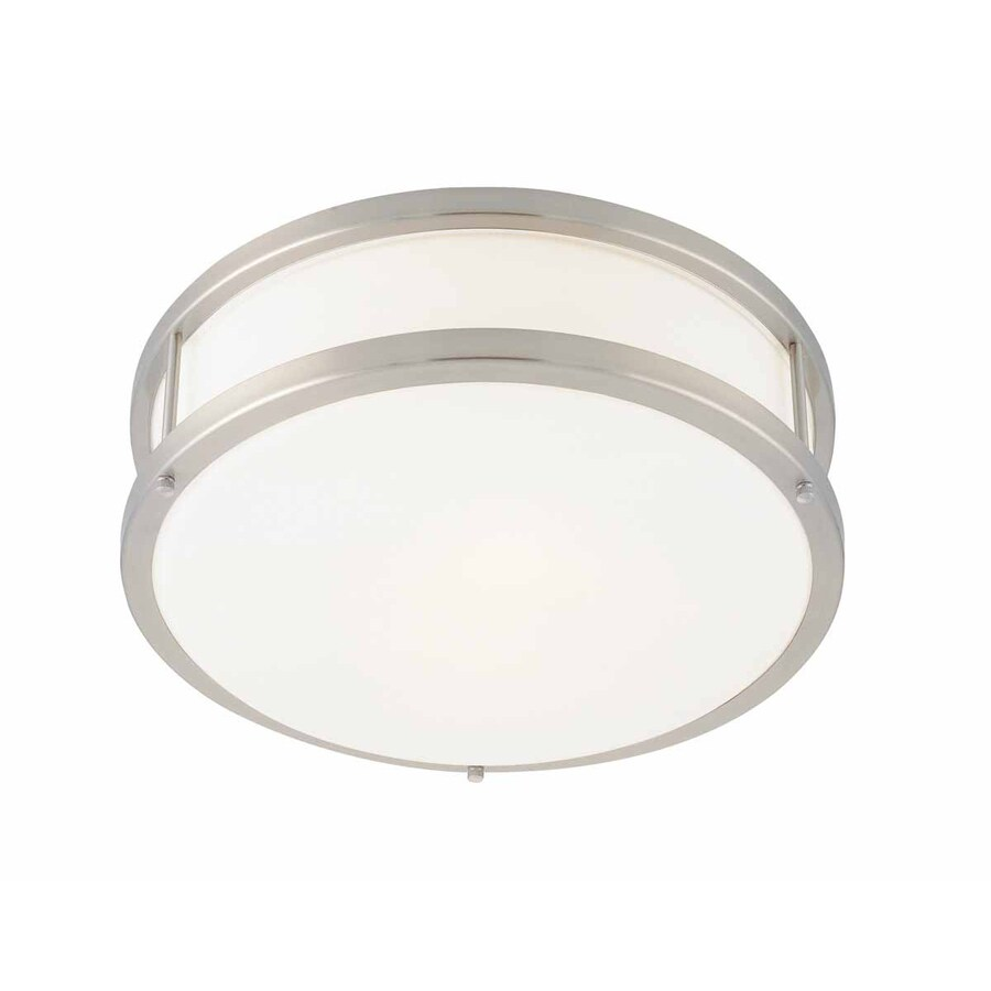 Access Lighting Conga 12-in W Brushed Steel Ceiling Flush Mount Light