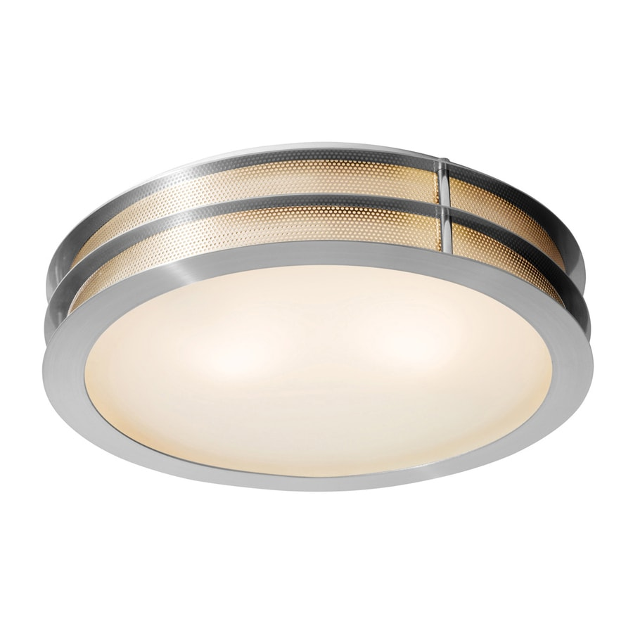Access Lighting Iron 16-in W Brushed Steel Ceiling Flush Mount Light
