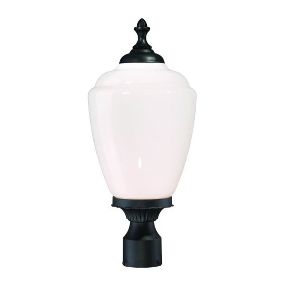 Acclaim Lighting Acorn 20.25-in H Matte Black Post Light