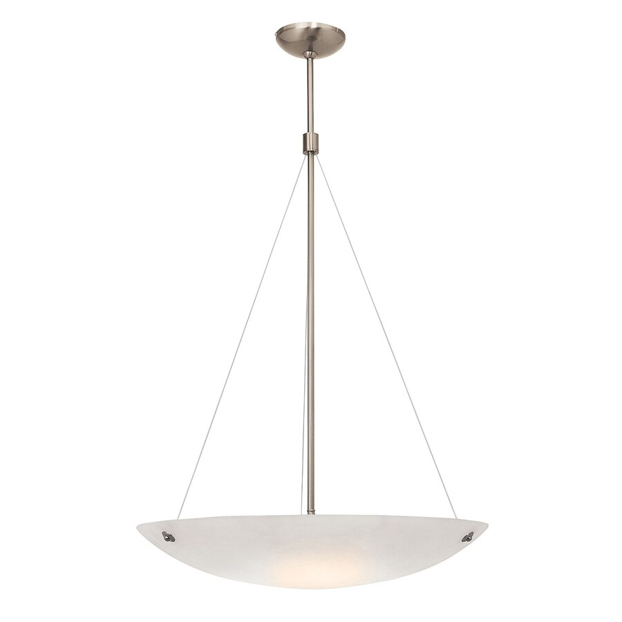 Access Lighting Noya 24-in Brushed Steel Single Bowl Pendant