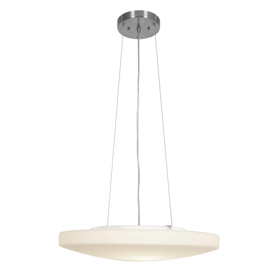 Access Lighting Orion 19-in Brushed Steel Single Bowl Pendant