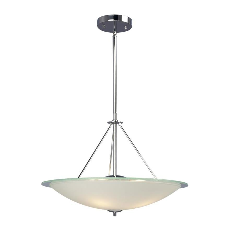 Galaxy Rondo 22-in Polished Chrome Industrial Single Bowl Pendant