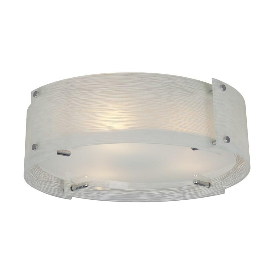 Galaxy Venta 17.875-in W Polished Chrome Ceiling Flush Mount Light