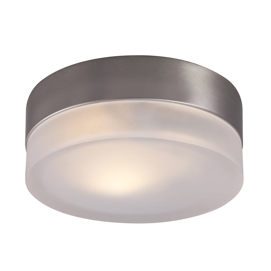 Galaxy 6-in W Brushed Nickel Ceiling Flush Mount Light