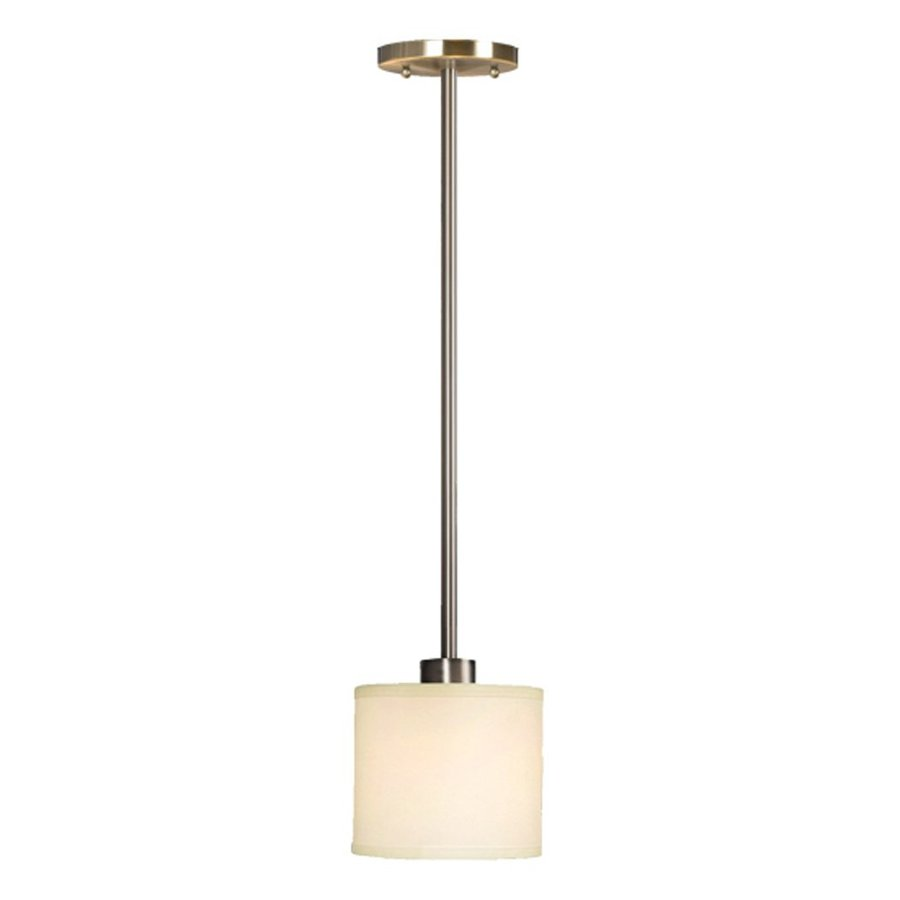 Galaxy Ansley 6.75-in Brushed Nickel Mini Drum Pendant