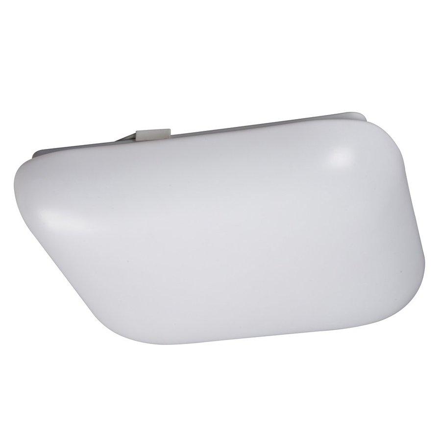 shop galaxy white 11 in flush mount fluorescent light at. Black Bedroom Furniture Sets. Home Design Ideas