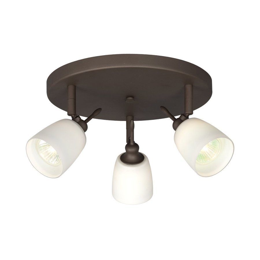 Galaxy 3-Light 10.125-in Oil Rubbed Bronze Flush Mount Fixed Track Light Kit