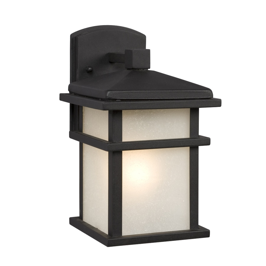 shop galaxy 10 5 in h black outdoor wall light at. Black Bedroom Furniture Sets. Home Design Ideas