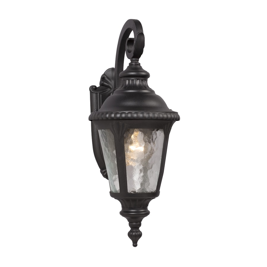Galaxy 19.25-in H Black Outdoor Wall Light