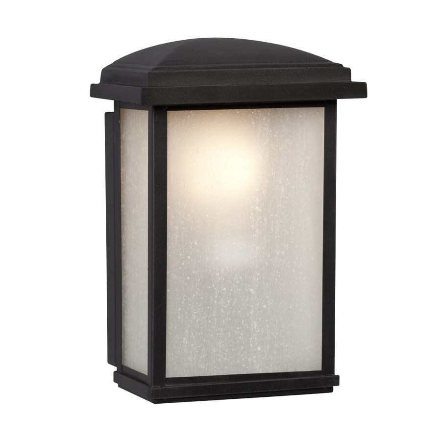 Galaxy 9.5-in H Black Outdoor Wall Light