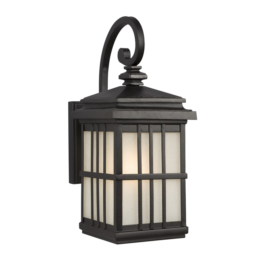 Galaxy 19-in H Black Outdoor Wall Light