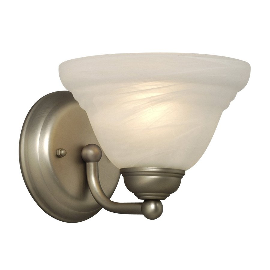 Galaxy Morgan 7.375-in W 1-Light Pewter Arm Wall Sconce