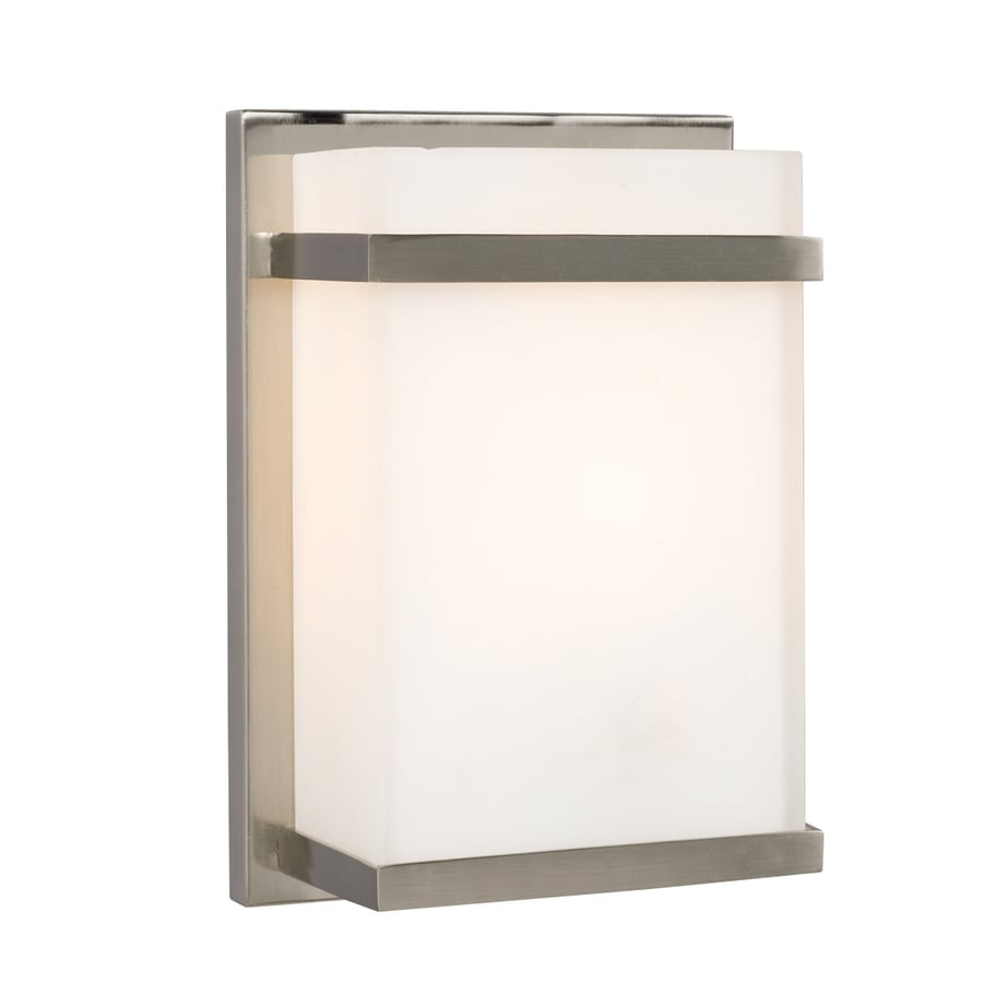 Galaxy 7.5-in W 1-Light Brushed Nickel Pocket Wall Sconce