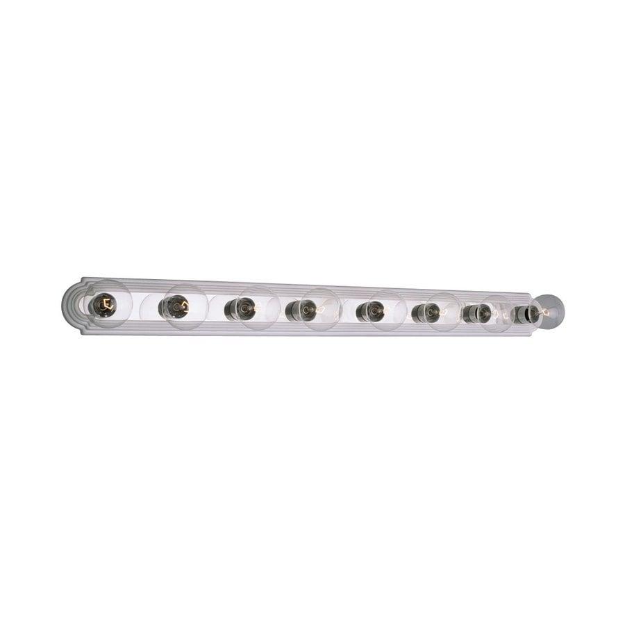 Galaxy 8-Light White/Polished Chrome Standard Bathroom Vanity Light