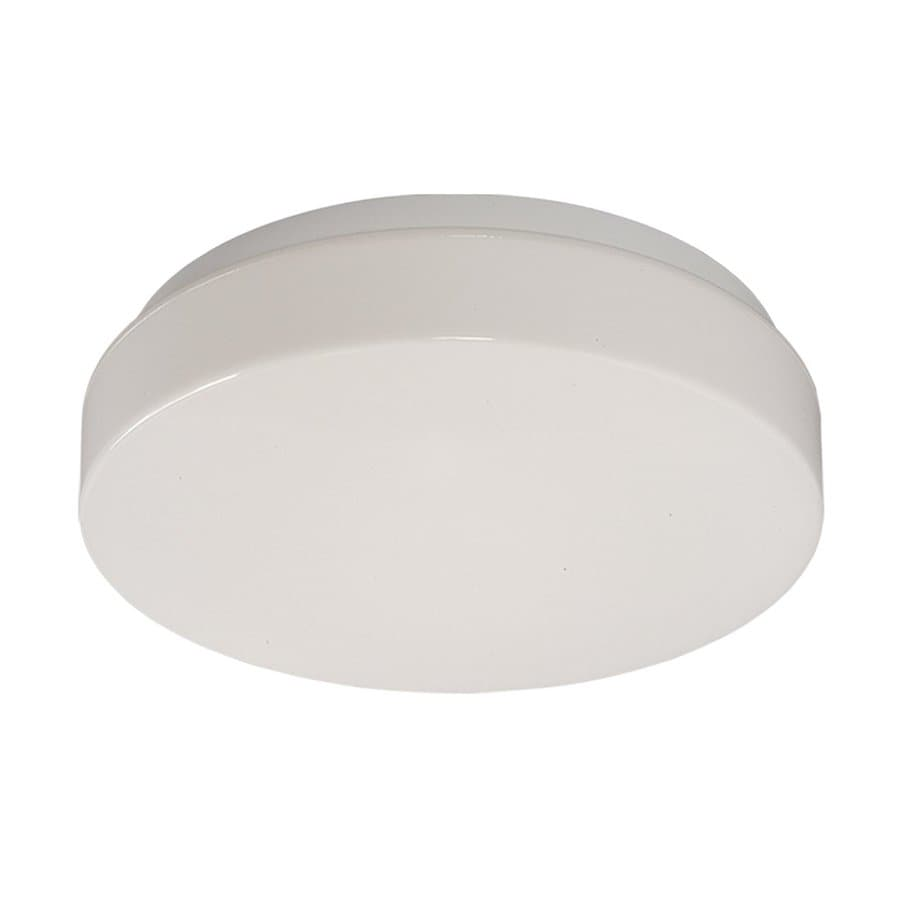 Galaxy White Flush Mount Fluorescent Light ENERGY STAR (Actual: 14-in)
