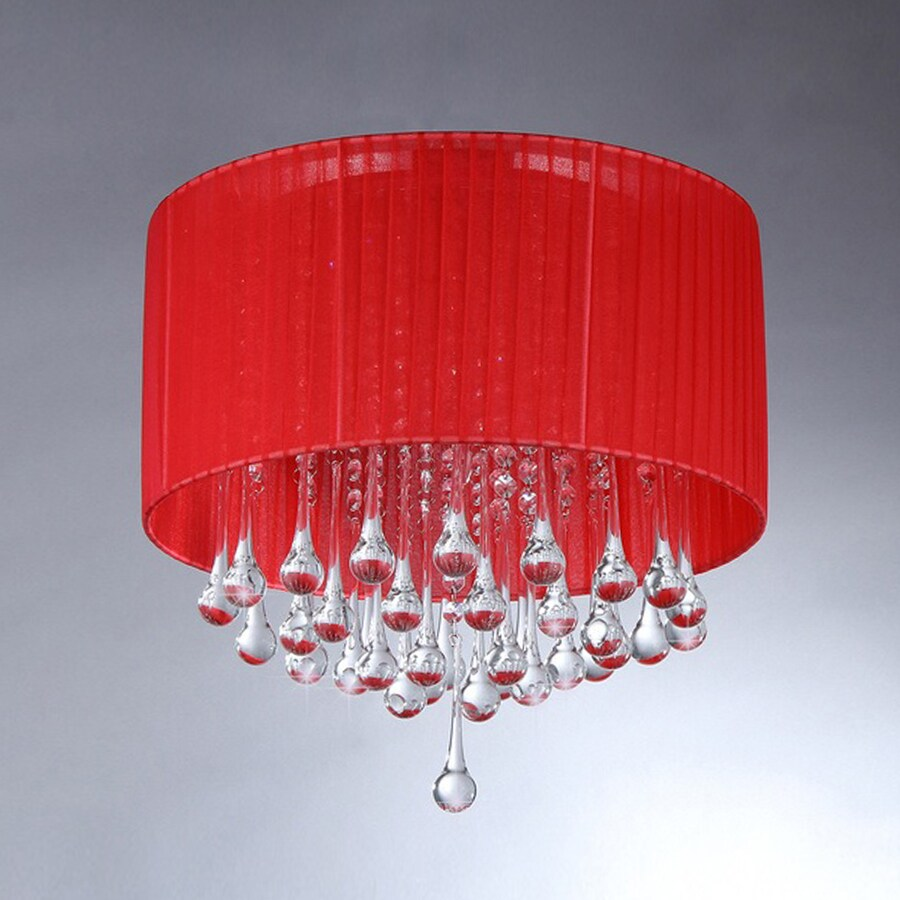 Warehouse of Tiffany Crystal 16-in W Chrome Crystal Accent Ceiling Flush Mount Light
