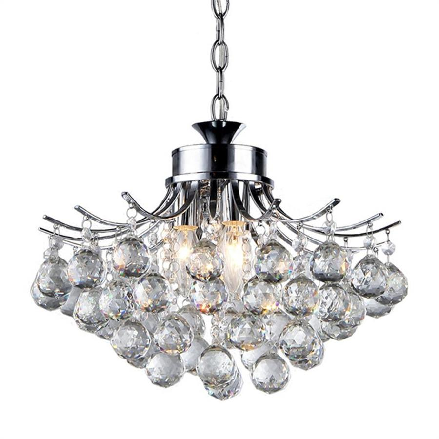 Shop Warehouse Of Tiffany Boadicea 15 In Chrome Crystal Single Crystal Pendan