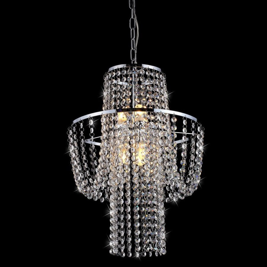 Warehouse of Tiffany Charlotte 15-in 6-Light Chrome Crystal Empire Chandelier