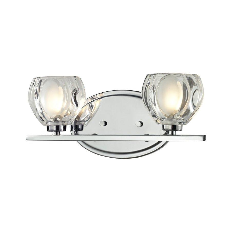 Lowes Vanity Lights Chrome : Shop Z-Lite 2-Light Hale Chrome Bathroom Vanity Light at Lowes.com