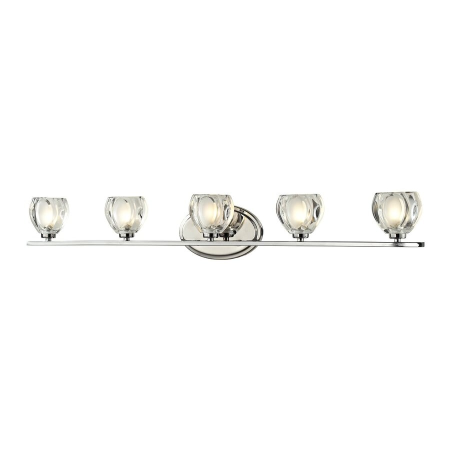 Z-Lite 5-Light Hale Chrome Bathroom Vanity Light
