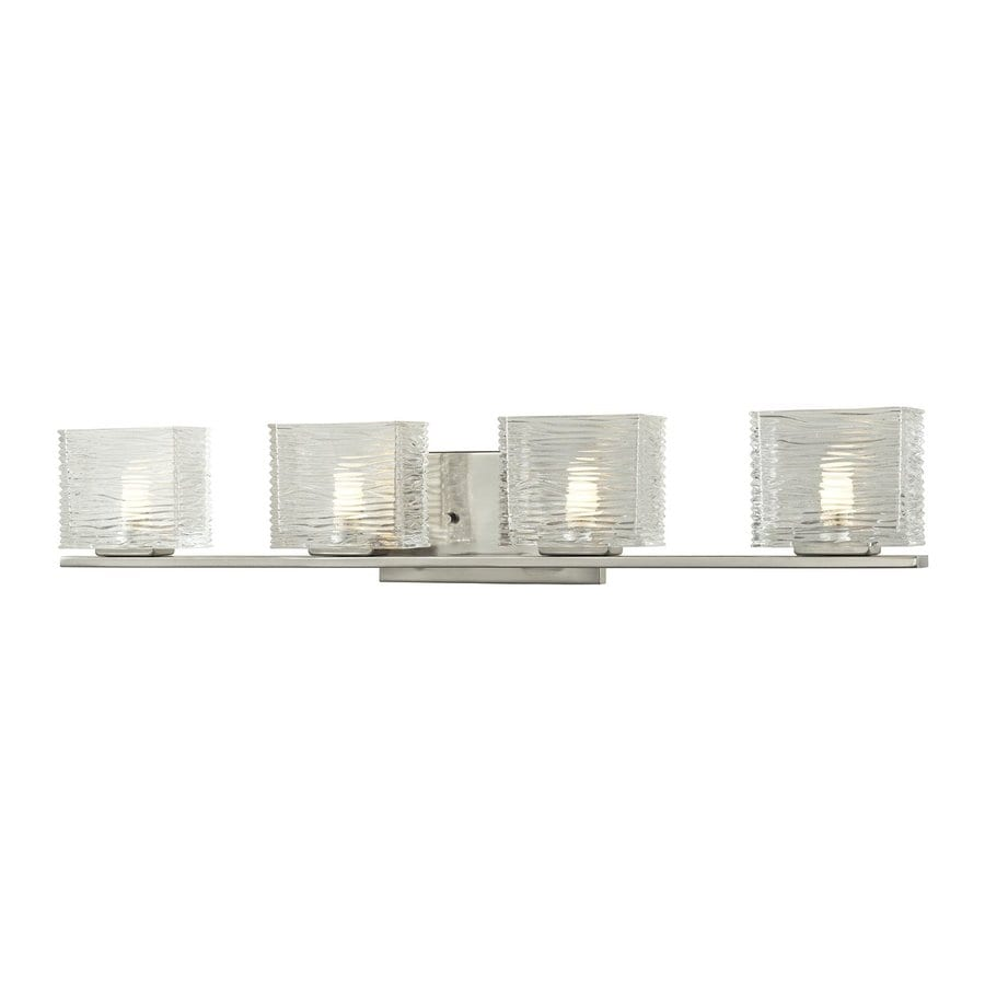 Z-Lite 4-Light Jaol Brushed Nickel Bathroom Vanity Light