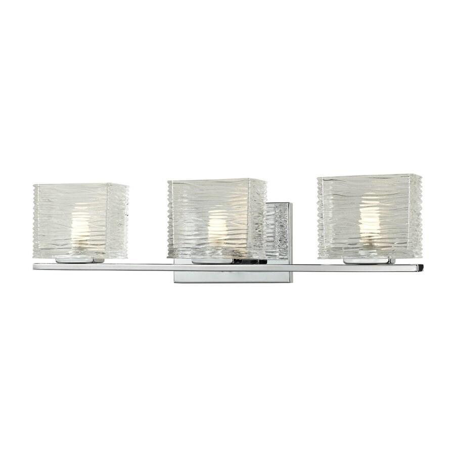 Z-Lite 3-Light Jaol Chrome Bathroom Vanity Light