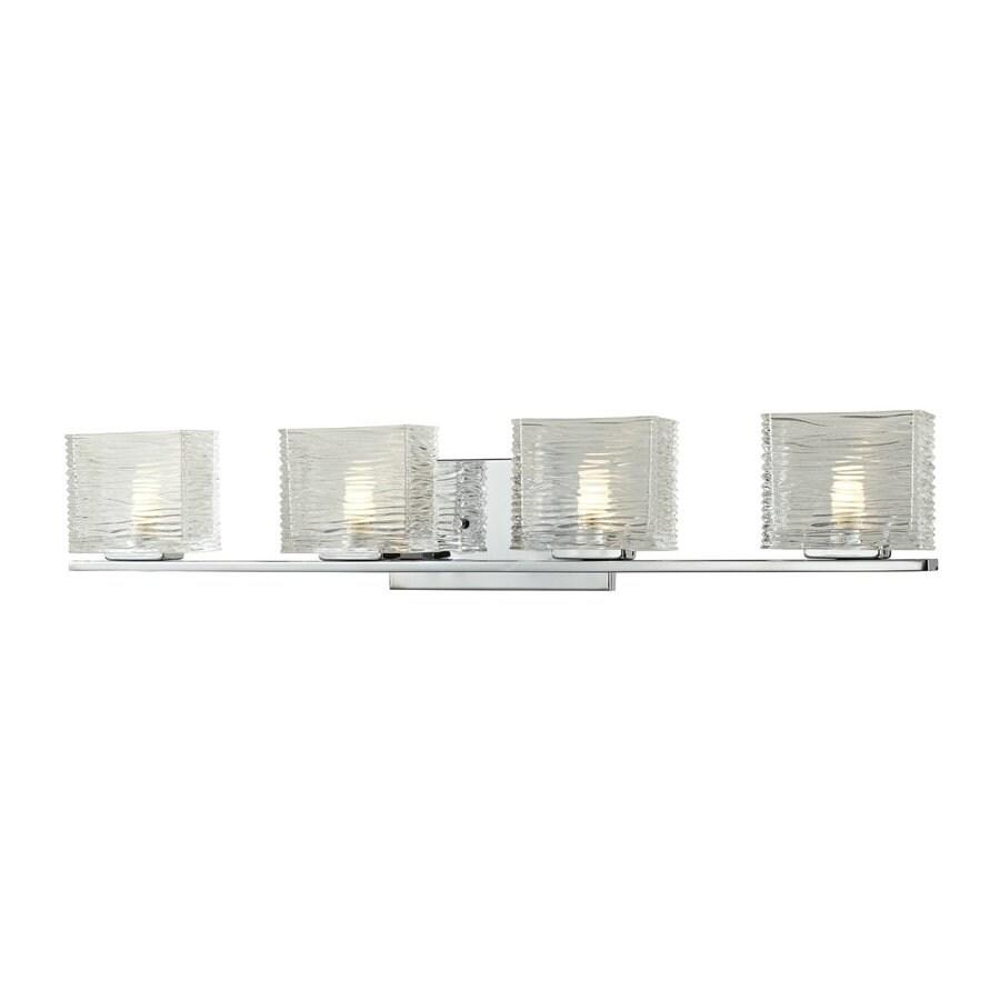 Z-Lite 4-Light Jaol Chrome Bathroom Vanity Light