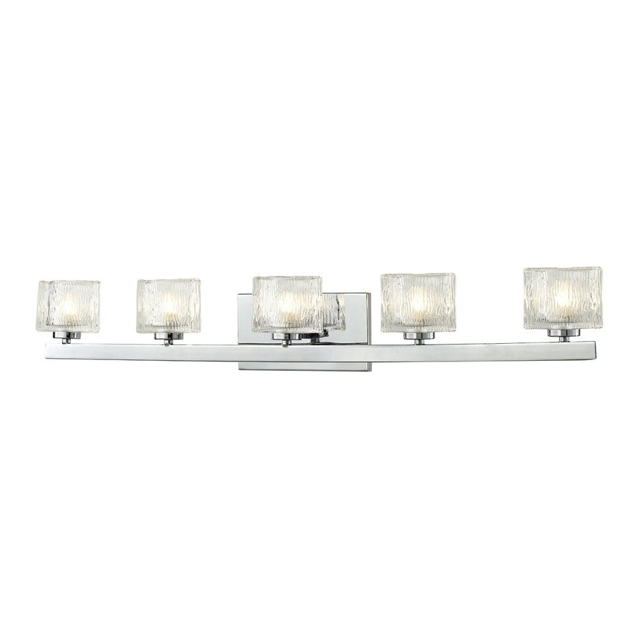 shop z lite 5 light chrome bathroom vanity light at