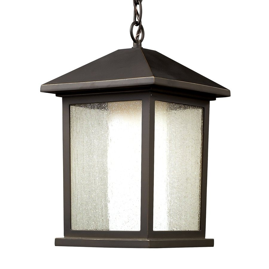 Z-Lite Mesa 15.5-in H Oil-Rubbed Bronze Outdoor Pendant Light