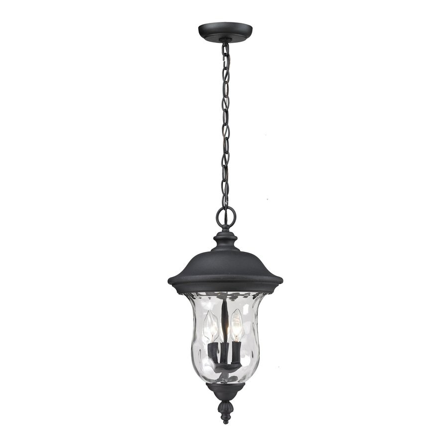 Z-Lite Armstrong 22.5-in H Black Outdoor Pendant Light