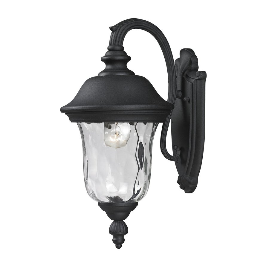 Z-Lite Armstrong 15.75-in H Black Outdoor Wall Light
