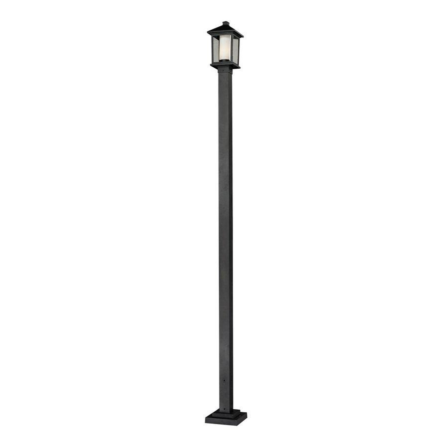 Z-Lite Mesa 114.75-in H Black Post Light