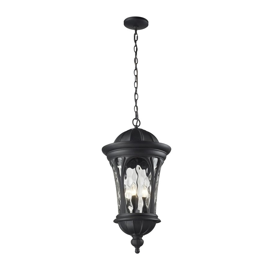 Z-Lite Doma 28-in H Sand Black Outdoor Pendant Light