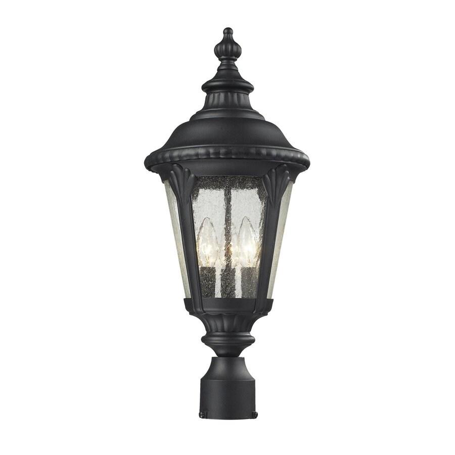 Z-Lite Medow 24.75-in H Sand Black Post Light