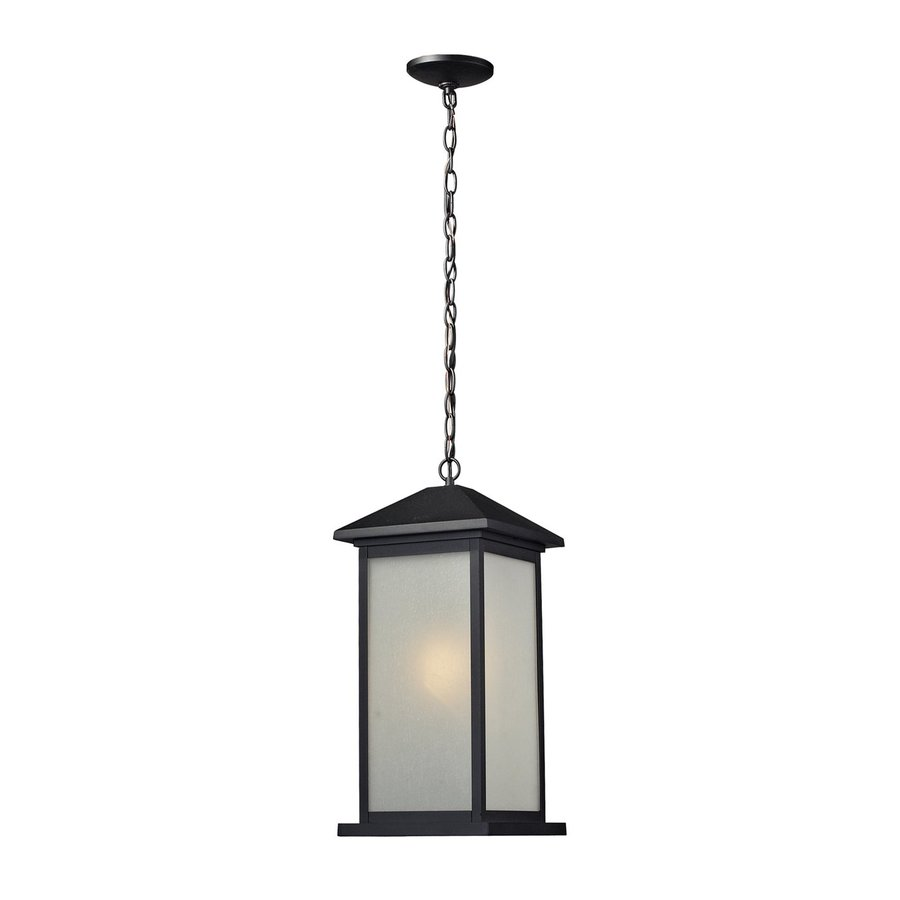 Z-Lite Vienna 20.75-in H Black Outdoor Pendant Light