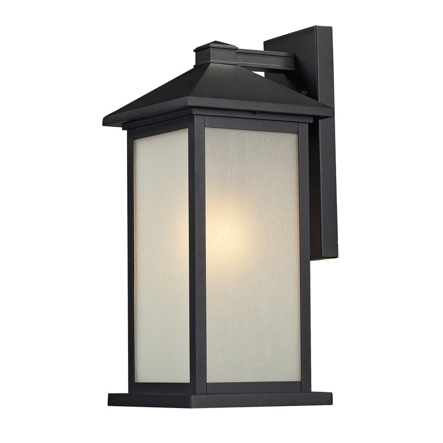 Z-Lite Vienna 18-in H Black Outdoor Wall Light