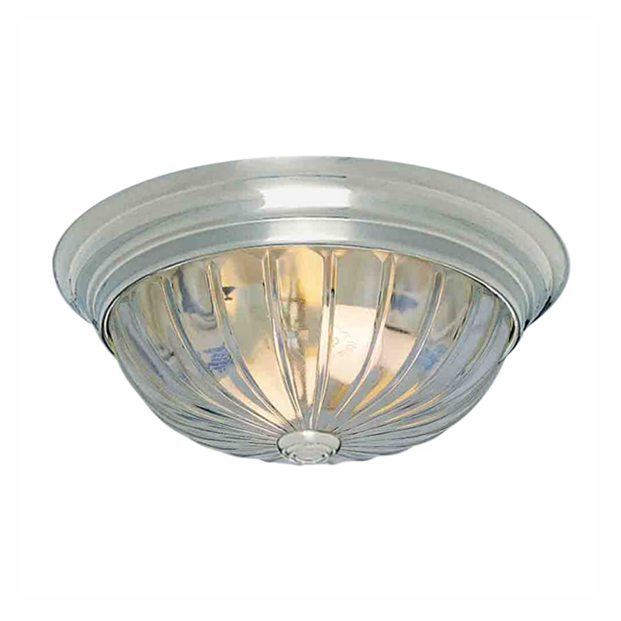 Volume International 13-in W Brushed Nickel Ceiling Flush Mount Light