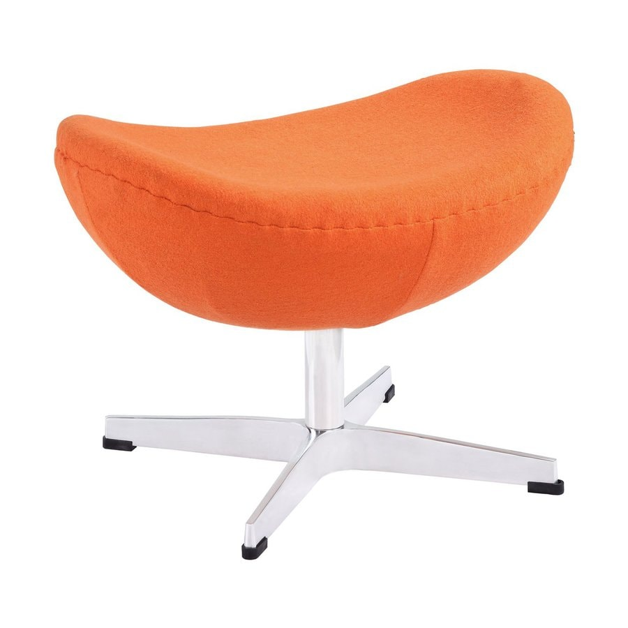 Modway Glove Orange Crescent Ottoman