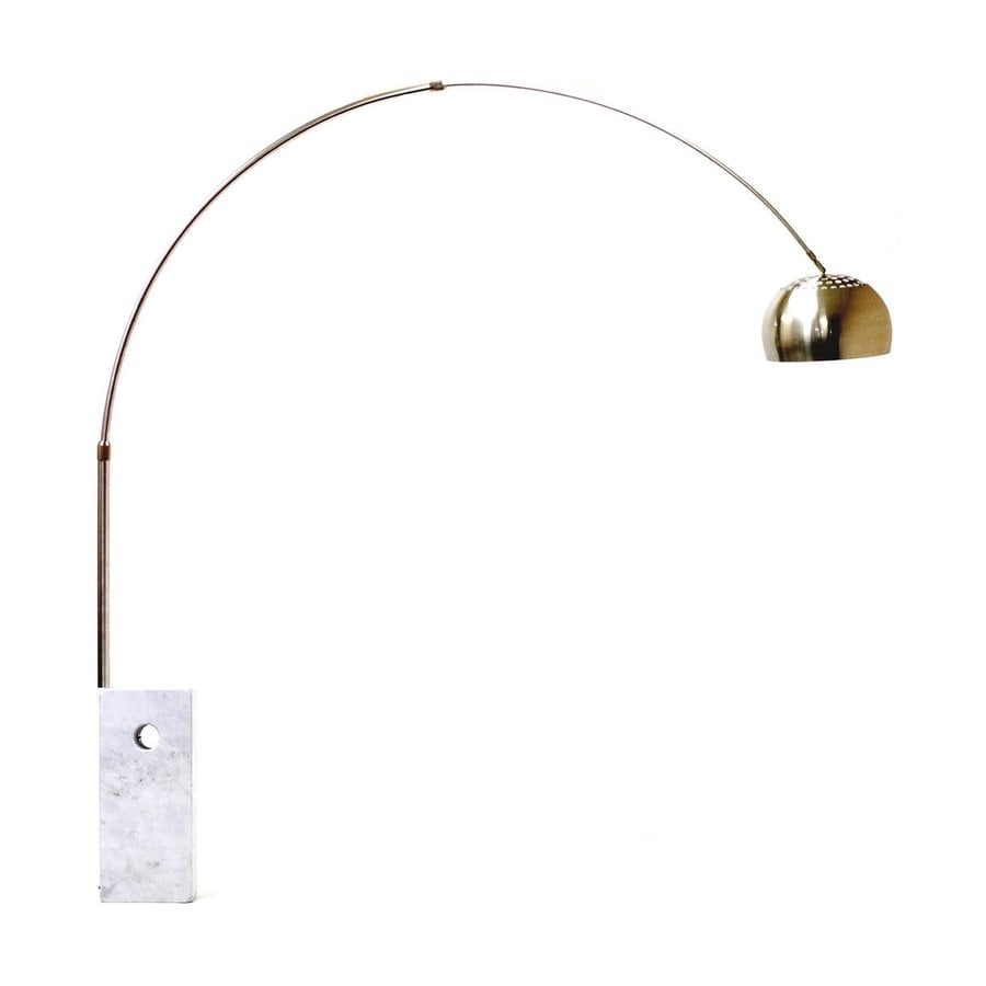 Modway Sunflower 95-in White Faux Marble Indoor Floor Lamp with Metal Shade