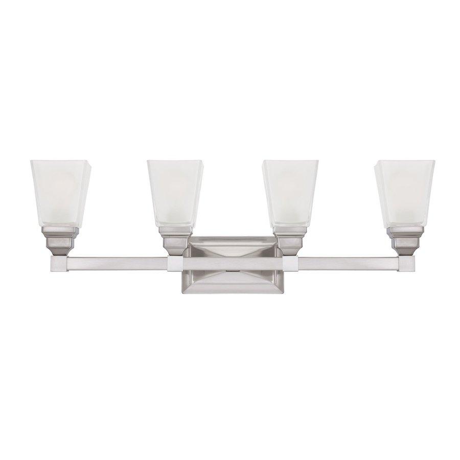 Designer's Fountain 4-Light Trenton Satin Nickel Bathroom Vanity Light