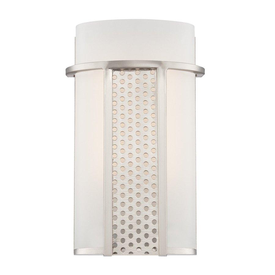 Designer's Fountain Lucern 6.5-in W 1-Light Satin Platinum Pocket Wall Sconce